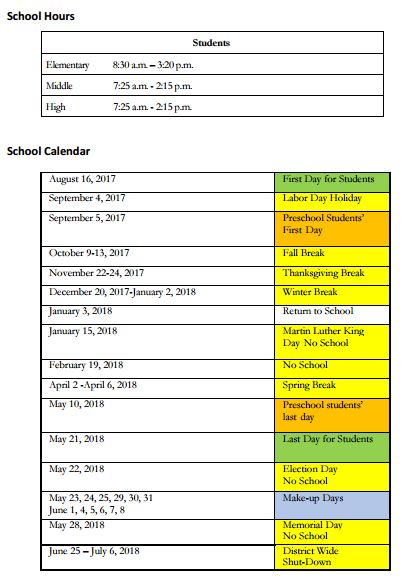 17-18 parent calendar - list view